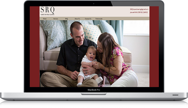 Laptop version of the SRQ Carpet Cleaning website