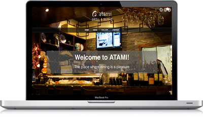 Mobile version of the Atami Grill&Sushi, Inc website
